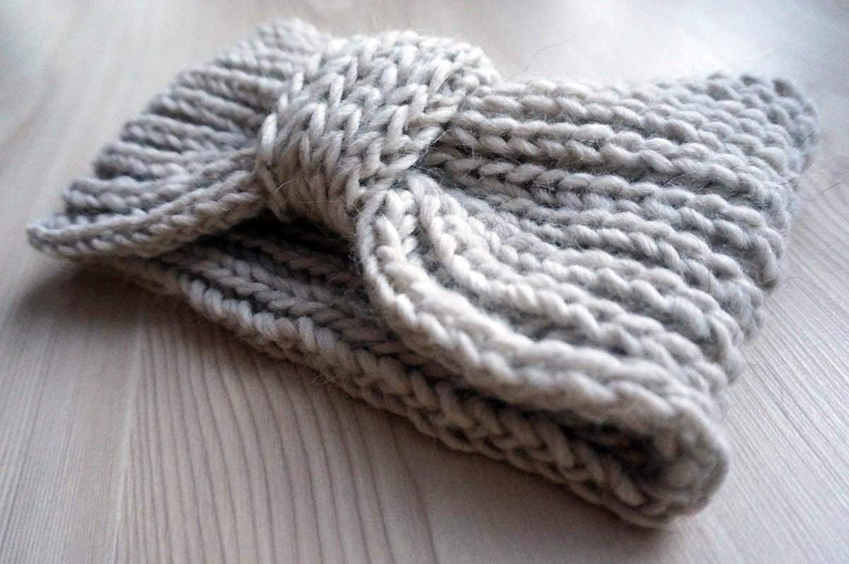 strikkede pandebånd opskrift