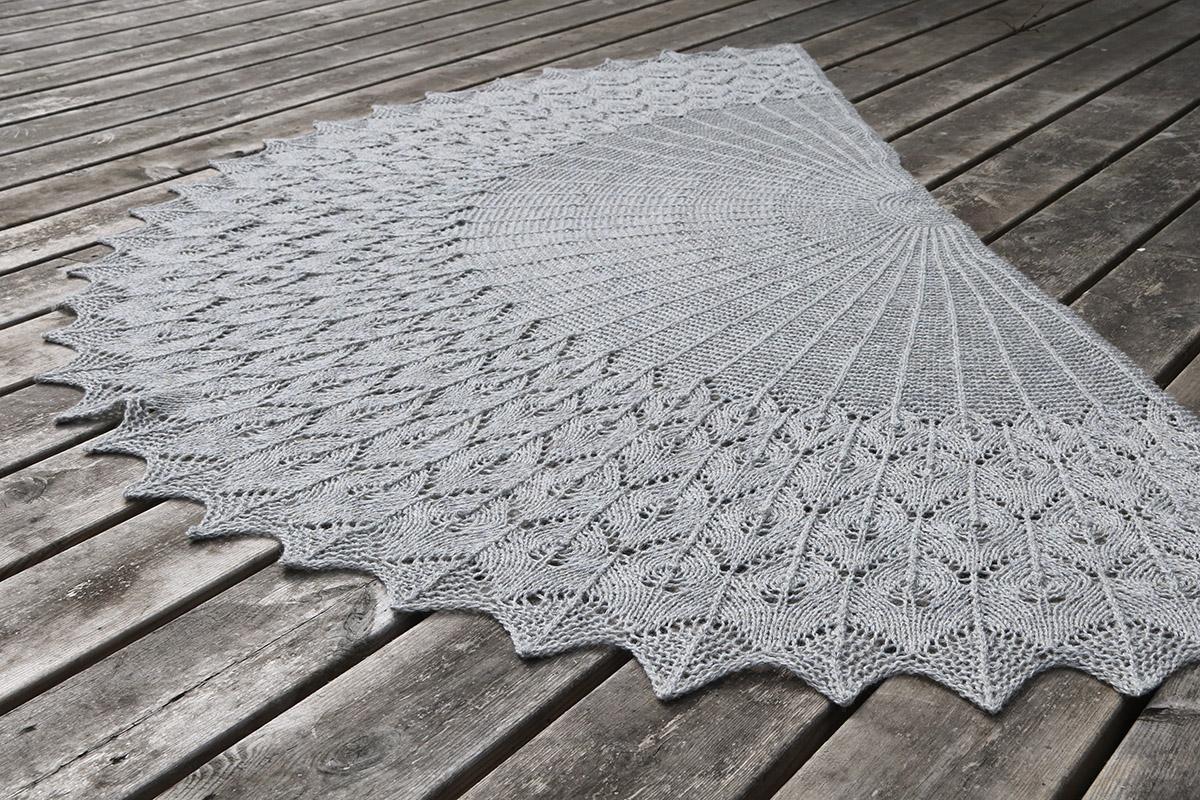 færøsk sjal opskrift